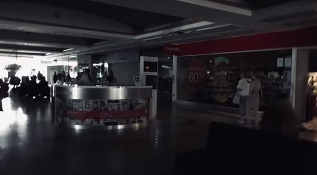 The power cut affected around half of the building. Credit: Heather Turkington Facebook