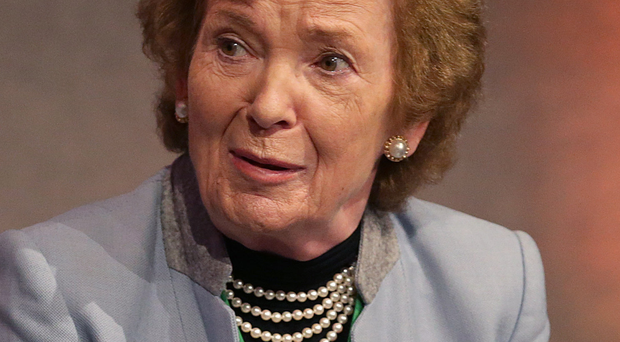 Under fire: Mary Robinson