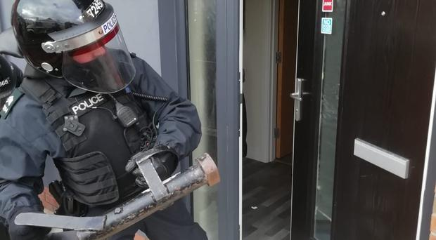 Police carried out a number of raids on properties across Belfast. (stock pic)