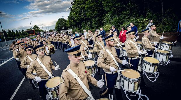 The annual Somme Commemoration parade in Belfast (Photo by Kevin Scott for Belfast Telegraph)