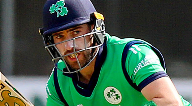 Ton up: Andrew Balbirnie en route to his cool century