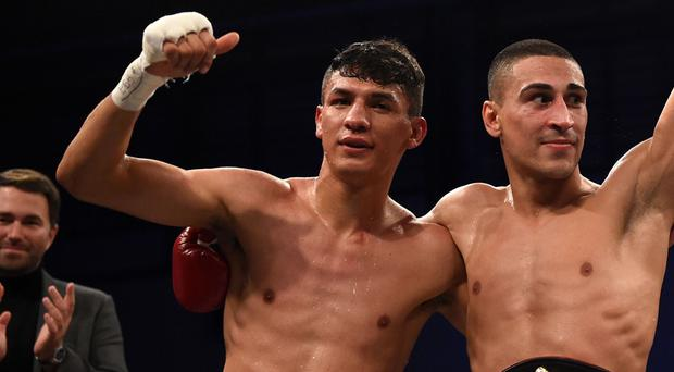 Emmanuel Dominguez (left) was stopped in three rounds by Jordan Gill in March but will now go up against Carl Frampton.