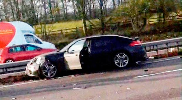The Porsche following the M4 incident