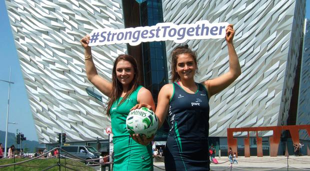 Sister act: Netball stars Michelle and Emma Magee