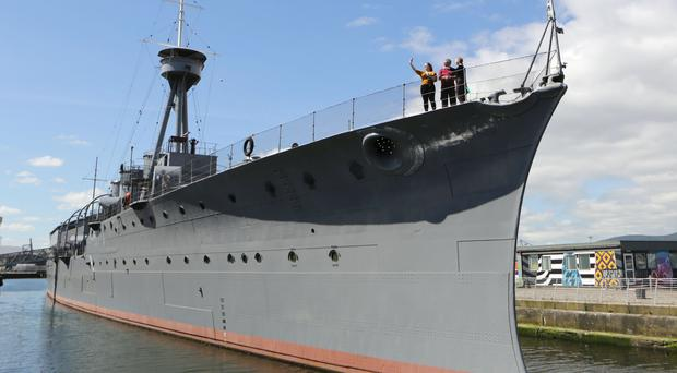 HMS Caroline has been shortlisted in the Art Fund museum of the year. (Photo by Paul McErlane for the Belfast Telegraph)