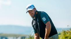 In the groove: Graeme McDowell during a practice round at Lahinch yesterday ahead of the Irish Open