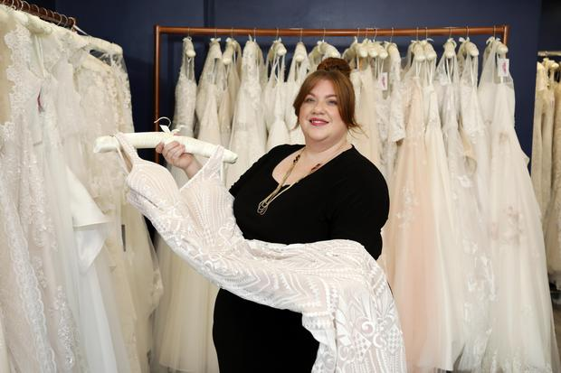 It is the only boutique in Northern Ireland to cater exclusively for plus size brides. ©Press Eye/Darren Kidd