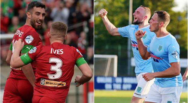 Cliftonville and Ballymena United will both be playing alongside Crusaders in the first qualifying round of the Europa League next week.