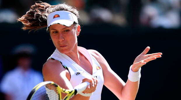 In groove: Johanna Konta sails into the third round