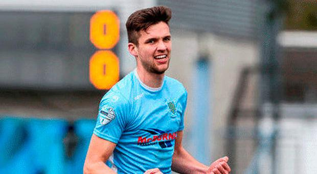 Happy days: Adam Lecky is thrilled to have been a part of the first Ballymena United team to progress in Europe