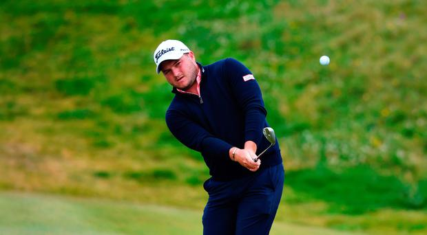 Close watch: Zander Lombard keeps an eye on his shot at Lahinch