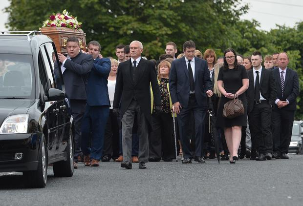The funeral of Beatrice Worton at 1st Markethill Presbyterian Church on Monday. Colm Lenaghan /Pacemaker.