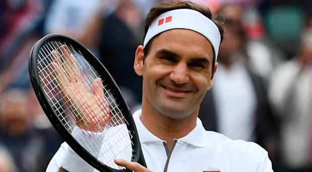 The master: Roger Federer was in exceptional form