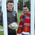 Super occasion: Ballymena's SuperCupNI graduates Kofi Balmer (left) and Jim Ervin are eyeing up the visit of Manchester United's U23s