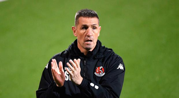 Battle ready: Stephen Baxter is primed for Euro mission