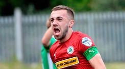 Key man: Conor McMenamin has excelled for Cliftonville