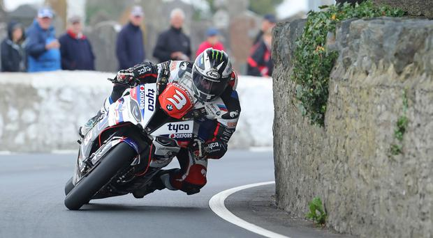 Michael Dunlop in action at the Southern 100.