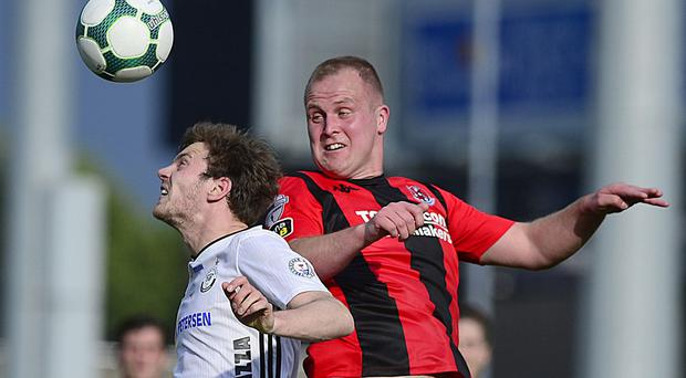 Crusaders' Jordan Owens delivered a top draw performance at Seaview to help his side towards a Europa League tie against Wolves.
