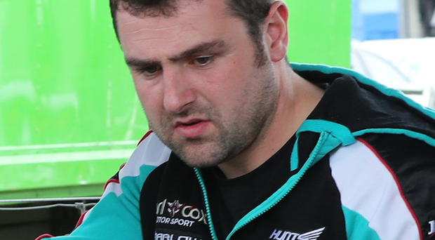 Crashed out: Michael Dunlop