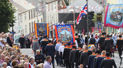 The County Armagh Twelfth demonstration in Tandragee on the 12th of July 2019 (Photo by Peter Morrison)