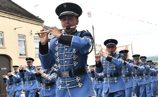 PACEMAKER BELFAST 12/07/2019 The south West down Twelfth celebrations for 2019 take place in Rathfriland on Friday. 95 Lodges and 60 bands taking part in the procession watched by thousands of spectators. Orangemen and women from neighbouring districts from Lower Iveagh West, Banbridge, Bann Valley, Lower Iveagh, Loughbrickland, Gilford and Newry will be on parade. Pic Colm Lenaghan/Pacemaker