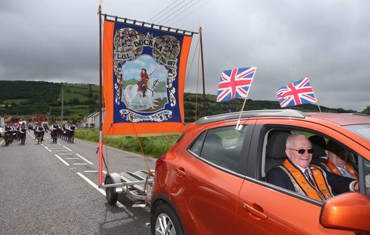 Transport came in different forms pictured during the Braid District Parade held in the seaside town of Carnlough on the Antrim Coast Road. PICTURE KEVIN MCAULEY/MCAULEY MULTIMEIDA