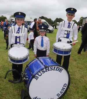 pictured at the North Antrim Demonstration held in Ballymoney. PICTURE KEVIN MCAULEY/MCAULEY MULTIMEDIA
