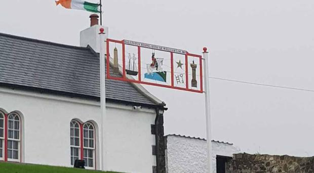 A Union flag was stolen from Ballintoy Orange Lodge and replaced with an Irish tricolour.