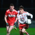 Key man: Tyrone's Darragh Canavan (right)
