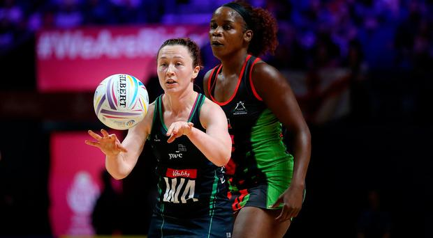 Northern Ireland's Michelle Drayne in action against Malawi.