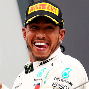 On top: Lewis Hamilton after his record sixth British GP win