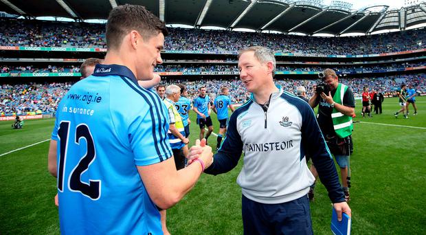 Success story: Dublin manager Jim Gavin (right) and Diarmuid Connolly