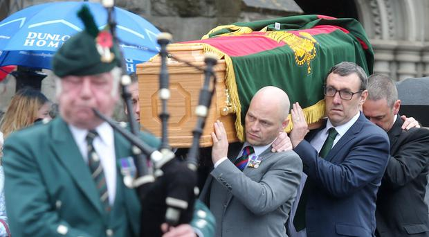 Funeral of Co Down murder victim and ex-UDR man William 'Pat' McCormick takes place at Strean Presbyterian Church, Newtownards.