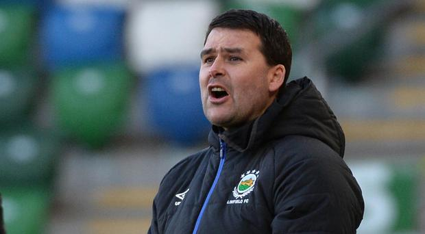 Linfield boss David Healy.