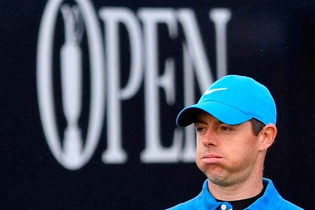 Rory McIlroy made a quadruple bogey eight on his first hole.