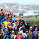 A full house enjoyed an enthralling first day at The Open Championship.