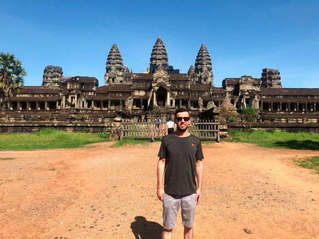 Martin Breen at the temples of Angkor in Cambodia