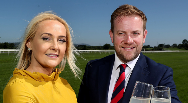 Winning combination: Emma Meehan, Chief Executive of Down Royal Racecourse and Stuart Carson, Director of Sales & Marketing at Rainbow Communications, toast their new sponsorship partnership