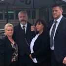 Bernadette Lauro, Mark Lauro, Diane Aston and Neil Aston hit out at the defendants behaviour outside Craigavon Crown Court