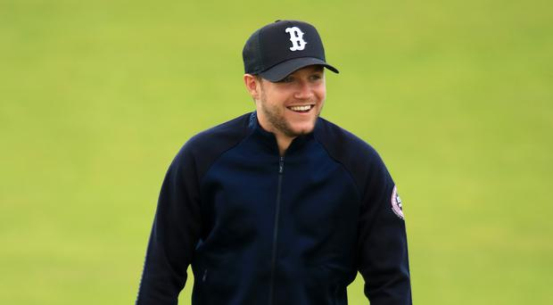 Niall Horan was at Royal Portrush during a practice round ahead of this year's Open Championship.