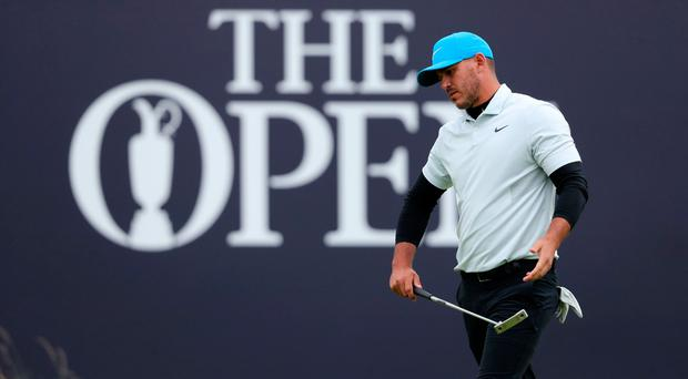Brooks Koepka on the 18th at The Open Championship at Royal Portrush Golf Club (Niall Carson/PA)