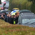 The Funeral of Darren Keys at Ballylinney Presbyterian Church near Ballyclare on Friday. Photo Colm Lenaghan/Pacemaker Press
