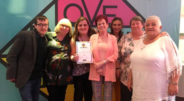 Church of God Shankill & Conway Youth Centre members celebrate