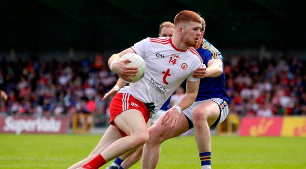 Forward march: Cathal McShane has led the line well for a Tyrone squad still trying to find the right attacking style, says Red Hands favourite Brian McGuigan