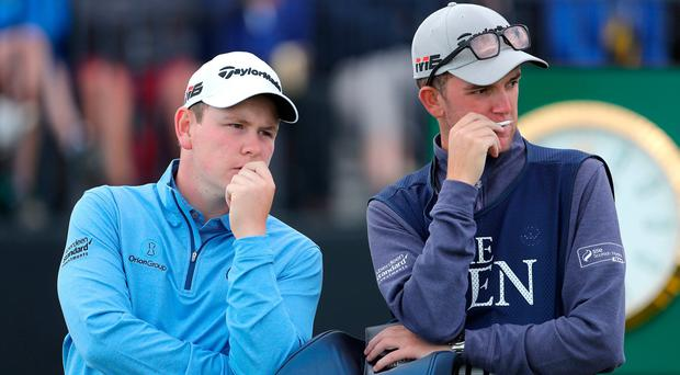 MacIntyre angry at partner after caddie's mom hit
