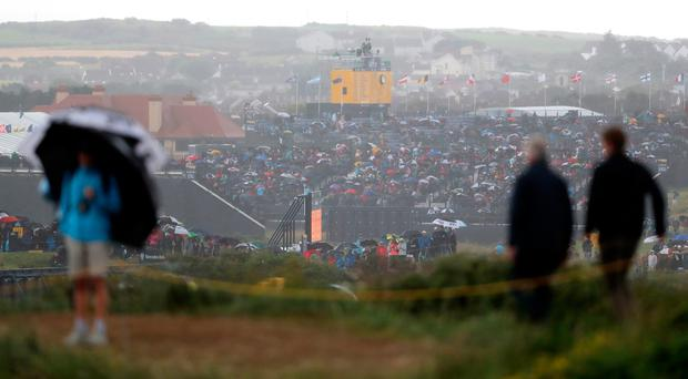 The rain is due to impact heavily on the final day of The Open Championship at Royal Portrush (Niall Carson/PA)