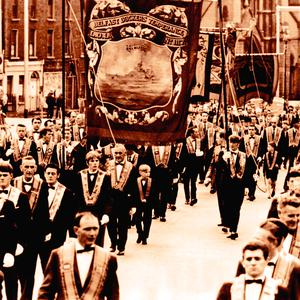 An Orange Order demonstration in the 1960s