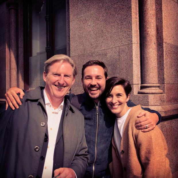 Adrian Dunbar, Martin Comptson and Vicky McClure
