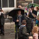 Actor Paul Mescal films scenes from new series Normal People in Trinity College Dublin. Pictures by Owen Breslin