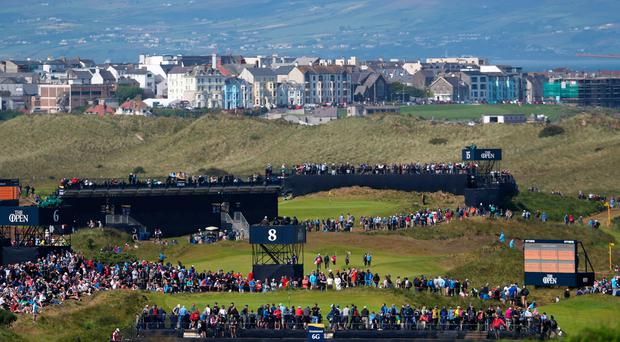 The Open Championship at Royal Portrush Golf Club saw Translink hit record passenger numbers. Credit: David Davies/PA Wire